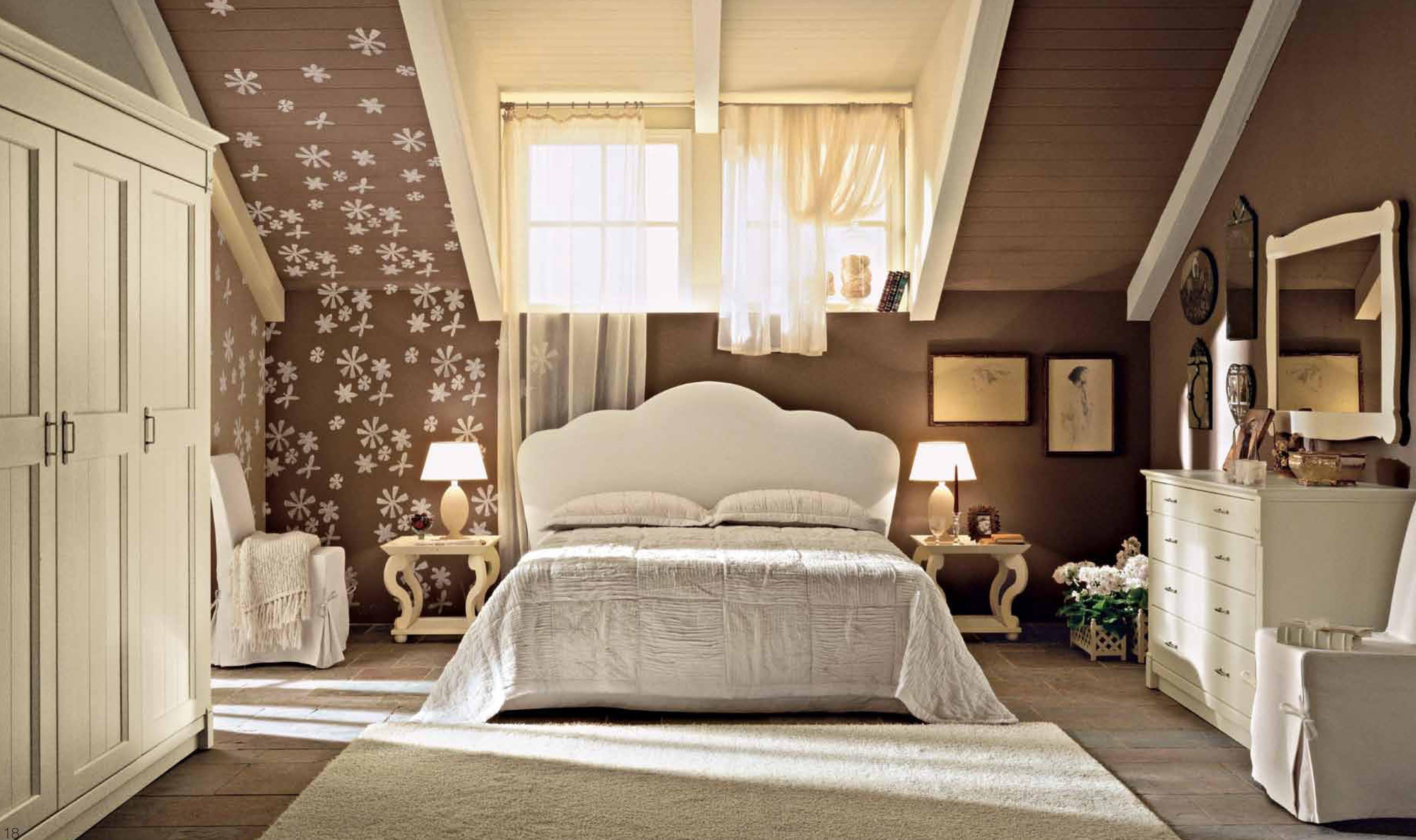 спальня а мансарде в стиле прованса фото